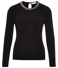 Austin Reed Black Beaded Jumper