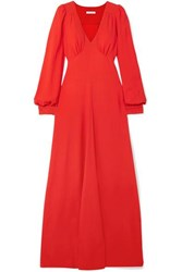 Bella Freud Nova Crepe Maxi Dress Red