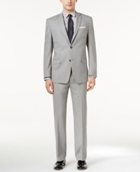 Marc New York By Andrew Classic Fit Light Gray Texture Suit