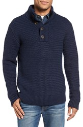 Schott Nyc Men's Military Henley Sweater