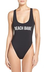 The Bikini Lab Women's Beach Babe One Piece Swimsuit