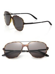 Carrera 55Mm Oversized Square Framed Aviator Havana Black