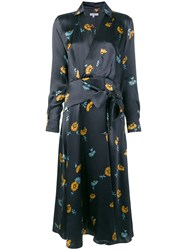 Equipment Floral Print Dress Blue