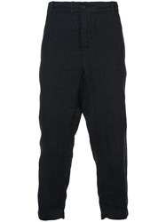 Forme D'expression Ctopped Loose Fitted Trousers Black