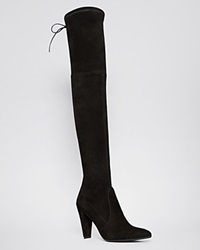Stuart Weitzman Pointed Toe Over The Knee Boots Highstreet High Heel Black