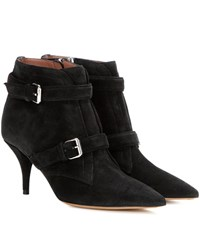 Tabitha Simmons Fitz 75 Suede Ankle Boots Black