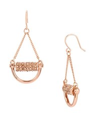 Kenneth Cole Salt Mines Crystal Paved Chandelier Earrings Rose Gold