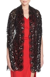 Women's Collection Xiix Scalloped Sequin Wrap