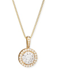 Bouquet 18K Yellow Gold Diamond Pendant Necklace Memoire