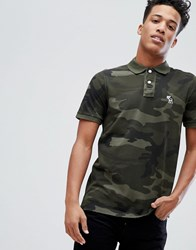 b86fbac03 Abercrombie And Fitch Core Slim Fit Polo With Moose Icon In Green Camo