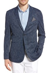 Vince Camuto Houndstooth Performance Mesh Blazer Navy Print