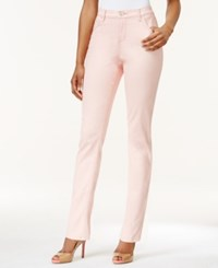 Lee Platinum Petite Gwen Straight Leg Colored Wash Jeans Pink Glace