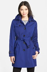 Women's Michael Michael Kors Single Breasted Raincoat Sapphire