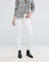 Jdy Mid Rise Skinny Jeans White