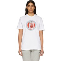 Baja East White 'Budja Budz' T Shirt