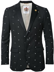 Education From Youngmachines Stars Print Blazer Black