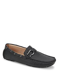 Bacco Bucci Beach Slip On Leather Loafers Black