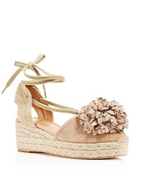 Kate Spade New York Lafayette Pom Pom Lace Up Platform Wedge Sandals