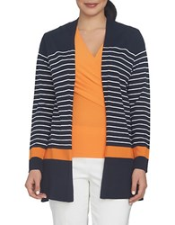 Chaus Nautical Breeze Striped Cardigan Cstl Nvy