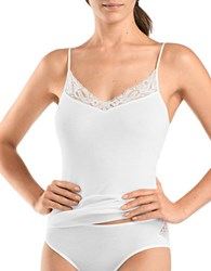 Hanro Two Piece Lace Trimmed Camisole Top And Briefs Set White