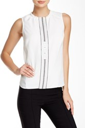 L.A.M.B. Embroidered Blouse White