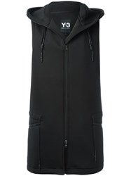 Y 3 Sleeveless Hooded Jacket Black