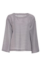 Alexis Mabille Striped Top Black