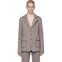 Acne Studios Brown Suit Blazer