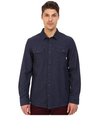 Vans Terrell Woven Dark Denim Men's Long Sleeve Button Up Navy