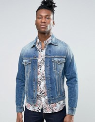 Pepe Jeans Mid Wash Denim Jacket Blue