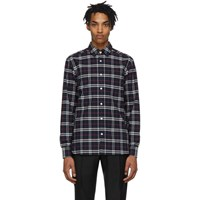 Burberry Navy Check George Shirt