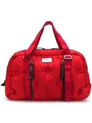 Maison Martin Margiela Quilted Weekend Bag Red