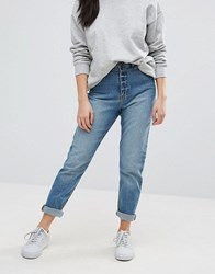 Cheap Monday Donna High Waisted Boyfriend Jeans Blue