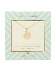 Kate Spade One In A Million Letter X Pendant Necklace Gold