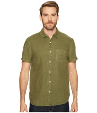 Lucky Brand Shore Linen Ballona Shirt Green Men's Clothing