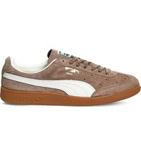 Puma Madrid Low Top Suede Trainers Fossil Suede