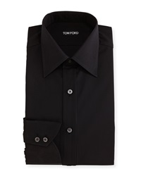 Tom Ford Classic Barrel Cuff Dress Shirt Black