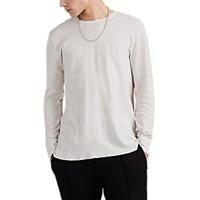 Nsf Textured Knit Cotton Long Sleeve T Shirt White