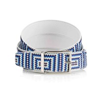Mark Giusti Reversible Belt White And Printed Leather