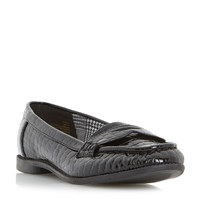 Head Over Heels Guila Croc Loafers Black