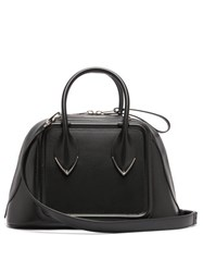 Alexander Mcqueen Pinter Panelled Leather Bowling Bag Black