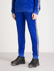 Blood Brother Mega Velour Jogging Bottoms Blue