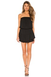 Krisa Smocked Strapless Mini Dress Black