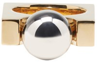 Chloe Gold And Silver Square Darcey Ring