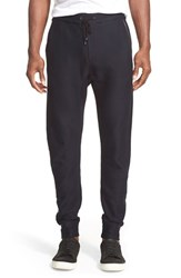 Men's John Varvatos Collection Leather Trim Track Pants