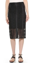 Veronica Beard Fitted Pencil Skirt Black