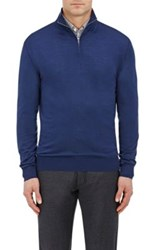 Ermenegildo Zegna Men's Wool Mock Turtleneck Sweater Blue