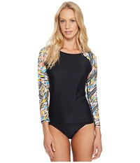 Volcom Tidal Motion Long Sleeve Rashguard Black Women's Swimwear