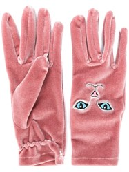 Vivetta Cat Gloves Pink And Purple