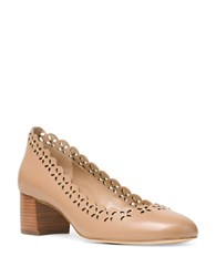 Michael Michael Kors Thalia Cutout Leather Pumps Toffee